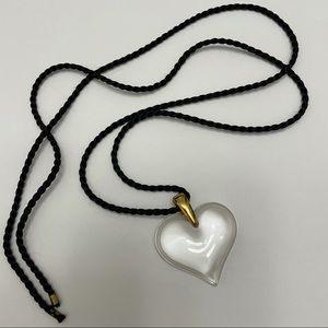Lalique Amoureuse Beaucoup Crystal Heart Pendant